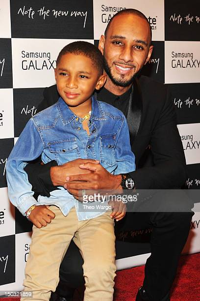 Swizz Beatz and his son attend Samsung Galaxy Note 101 Launch Event at Jazz at Lincoln Center on August 15 2012 in New York City