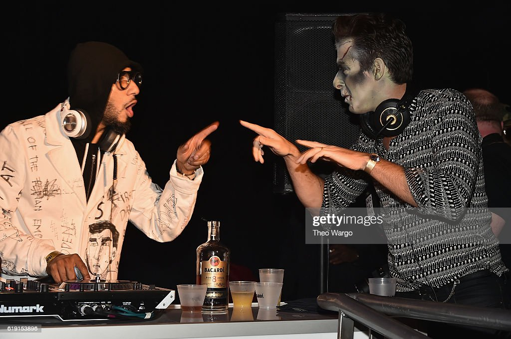 swizz beatz and mark ronson attend bacardi x kenzo digital present we are the night - Brooklyn Halloween Party