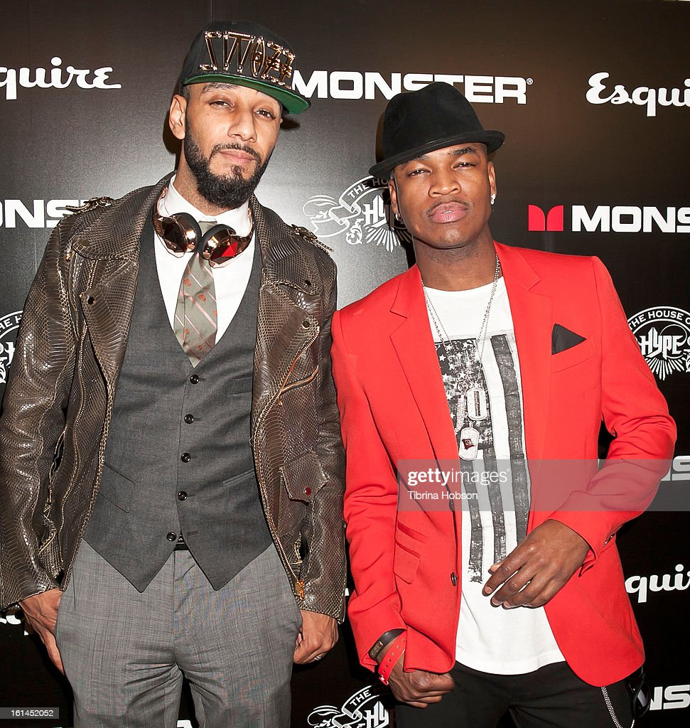 Swizz Beatz and Ne-Yo attend the 'House of Hype' Monster Grammy party at SLS Hotel on February 10, 2013 in Los Angeles, California.