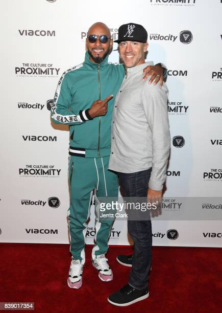 Swizz Beatz and Viacom Velocity CMO Dario Spina attend the Viacom 'Culture of Proximity' Screening at NeueHouse Los Angeles on August 24 2017 in...