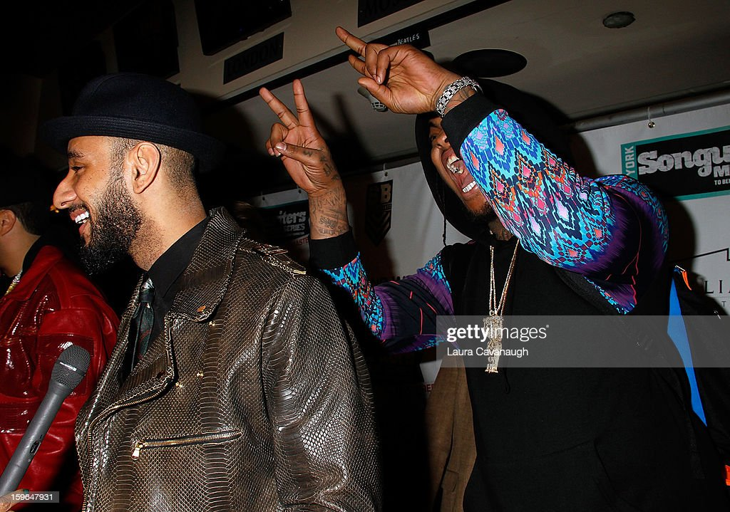 <a gi-track='captionPersonalityLinkClicked' href=/galleries/search?phrase=Swizz+Beatz&family=editorial&specificpeople=567154 ng-click='$event.stopPropagation()'>Swizz Beatz</a> and Wacka Flacka Flame attend The VH1 Save The Music Foundation's 'Songwriter Music Series' With <a gi-track='captionPersonalityLinkClicked' href=/galleries/search?phrase=Swizz+Beatz&family=editorial&specificpeople=567154 ng-click='$event.stopPropagation()'>Swizz Beatz</a> at Hard Rock Cafe - Times Square on January 17, 2013 in New York City.