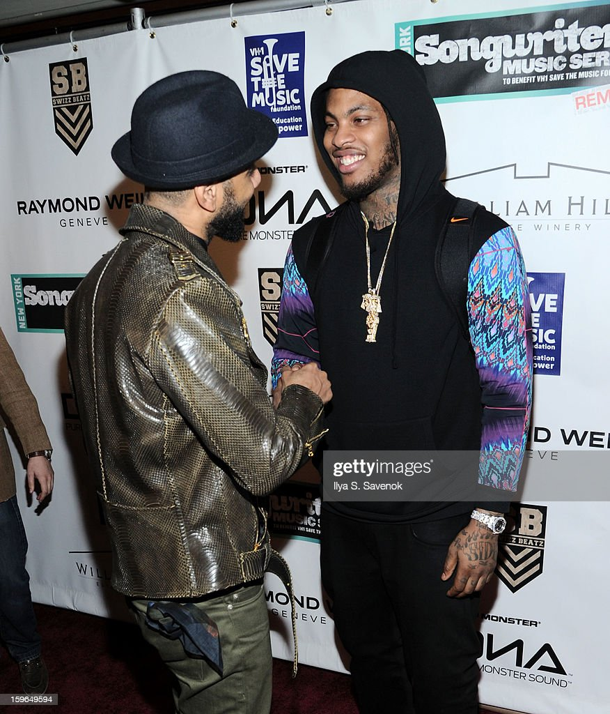<a gi-track='captionPersonalityLinkClicked' href=/galleries/search?phrase=Swizz+Beatz&family=editorial&specificpeople=567154 ng-click='$event.stopPropagation()'>Swizz Beatz</a> and <a gi-track='captionPersonalityLinkClicked' href=/galleries/search?phrase=Waka+Flocka+Flame&family=editorial&specificpeople=6915851 ng-click='$event.stopPropagation()'>Waka Flocka Flame</a> attend The VH1 Save The Music Foundation's 'Songwriter Music Series' With Swizz Beats at Hard Rock Cafe - Times Square on January 17, 2013 in New York City.