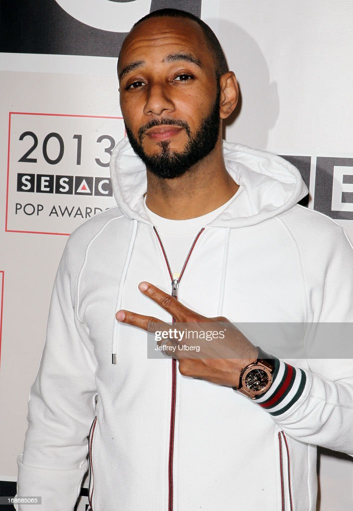 <a gi-track='captionPersonalityLinkClicked' href=/galleries/search?phrase=Swizz+Beatz&family=editorial&specificpeople=567154 ng-click='$event.stopPropagation()'>Swizz Beatz</a> attends 2013 SESAC Pop Music Awards at New York Public Library on May 13, 2013 in New York City.