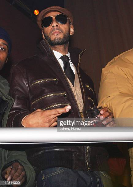 Swizz Beatz attends a party at M2 Ultra Lounge on December 18 2009 in New York City