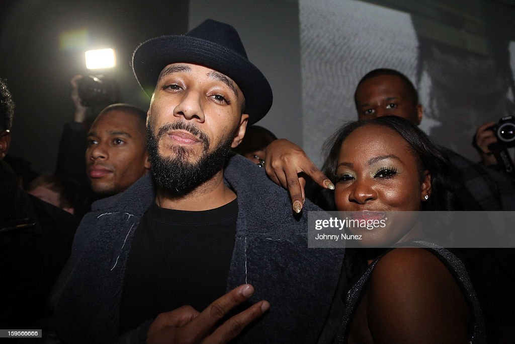 <a gi-track='captionPersonalityLinkClicked' href=/galleries/search?phrase=Swizz+Beatz&family=editorial&specificpeople=567154 ng-click='$event.stopPropagation()'>Swizz Beatz</a> (L) attends A$AP Rocky's 'LOVE.LIVE.A$AP' Album Release Party at The Hole on January 15, 2013 in New York City.
