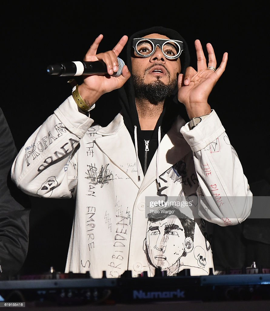 swizz beatz attends bacardi x kenzo digital present we are the night halloween party - Brooklyn Halloween Party