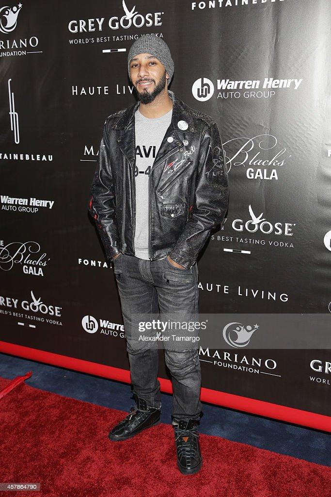 Swizz Beatz attends Blacks' Annual Gala at Fontainebleau Miami Beach on October 25 2014 in Miami Beach Florida