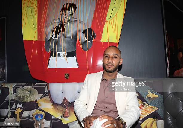 Swizz Beatz attends Smile Design Gallery Benefit Auction at Smile Design Manhattan on June 25 2013 in New York City