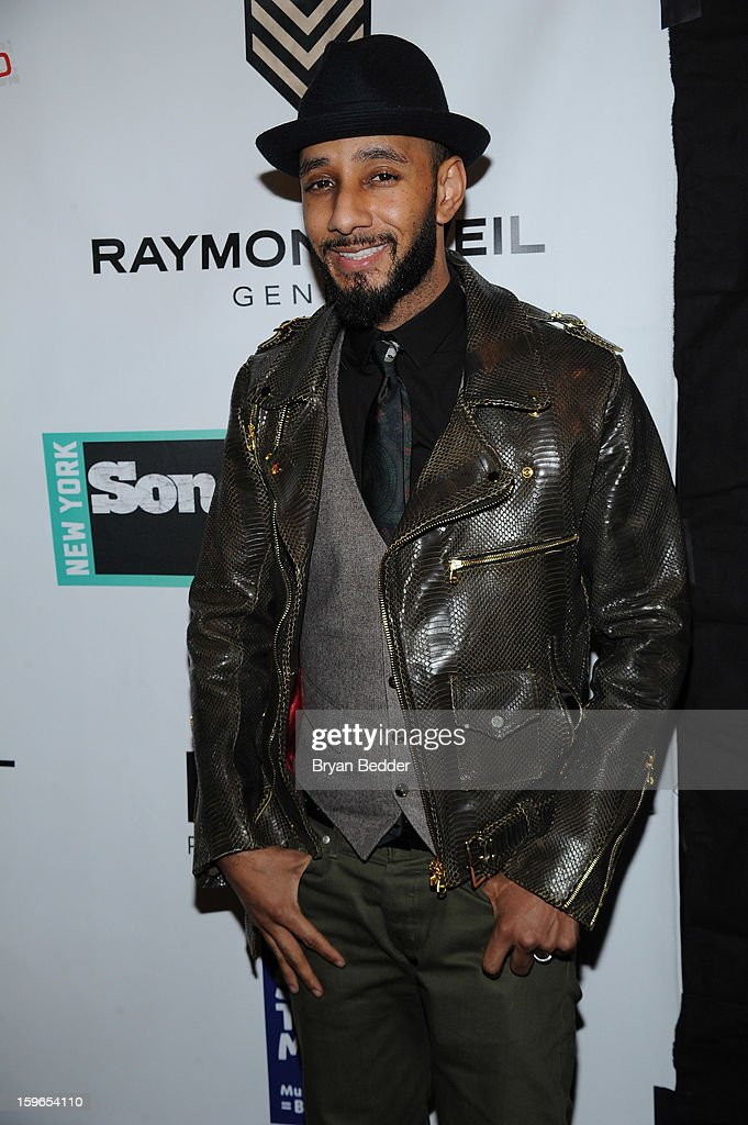 Swizz Beatz attends VH1 Save The Music Foundation's Songwriters Music Series Remix featuring Swizz Beatz & Friends, presented by Monster DNA Headphones & William Hill Estate Winery at Hard Rock Cafe New York on January 17, 2013 in New York City.