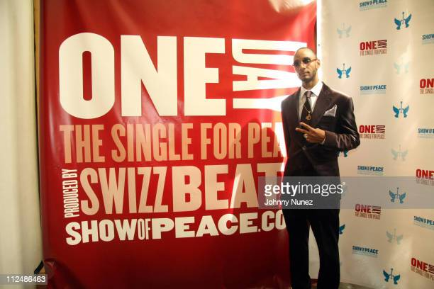 Swizz Beatz during International Day of Peace Conference at United Nations in New York City New York United States
