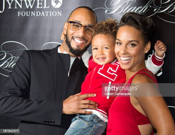 Swizz Beatz Egypt Daoud Dean and Alicia Keys attend the 10th annual Keep A Child Alive Black Ball at Hammerstein Ballroom on November 7 2013 in New...