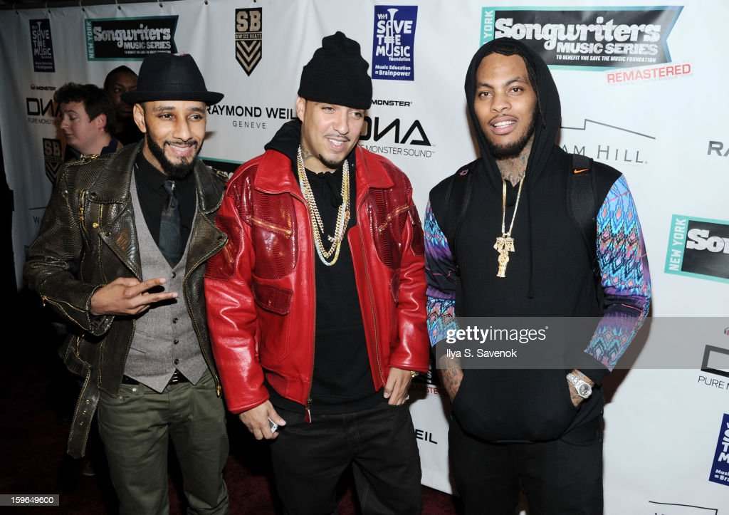 <a gi-track='captionPersonalityLinkClicked' href=/galleries/search?phrase=Swizz+Beatz&family=editorial&specificpeople=567154 ng-click='$event.stopPropagation()'>Swizz Beatz</a>, <a gi-track='captionPersonalityLinkClicked' href=/galleries/search?phrase=French+Montana&family=editorial&specificpeople=7131467 ng-click='$event.stopPropagation()'>French Montana</a> and <a gi-track='captionPersonalityLinkClicked' href=/galleries/search?phrase=Waka+Flocka+Flame&family=editorial&specificpeople=6915851 ng-click='$event.stopPropagation()'>Waka Flocka Flame</a> attend The VH1 Save The Music Foundation's 'Songwriter Music Series' With Swizz Beats at Hard Rock Cafe - Times Square on January 17, 2013 in New York City.