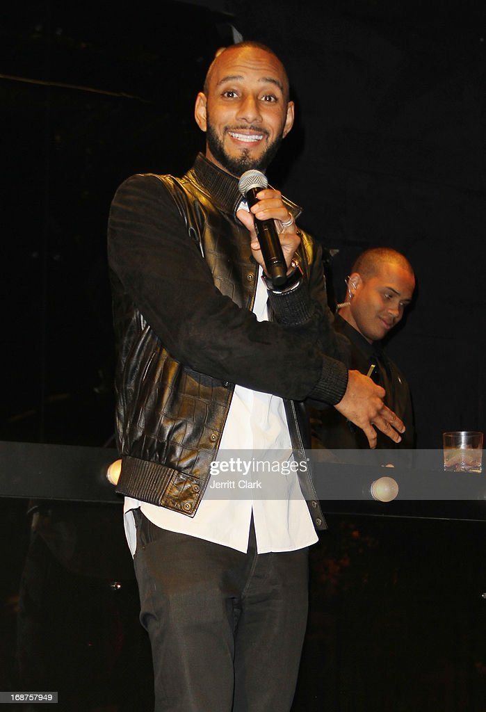 <a gi-track='captionPersonalityLinkClicked' href=/galleries/search?phrase=Swizz+Beatz&family=editorial&specificpeople=567154 ng-click='$event.stopPropagation()'>Swizz Beatz</a> hosts his annual the Bronx Charter School for the Arts 2013 art auction at Marquee on May 14, 2013 in New York City.