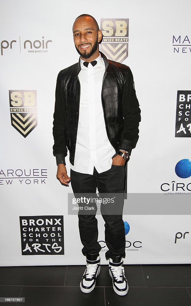 <a gi-track='captionPersonalityLinkClicked' href=/galleries/search?phrase=Swizz+Beatz&family=editorial&specificpeople=567154 ng-click='$event.stopPropagation()'>Swizz Beatz</a> hosts the Bronx Charter School for the Arts 2013 art auction at Marquee on May 14, 2013 in New York City.