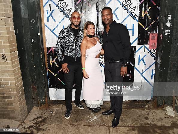 Swizz Beatz Jenne Lombardo and AJ Calloway attend the Kola House Opening Party at Kola House on September 20 2016 in New York City