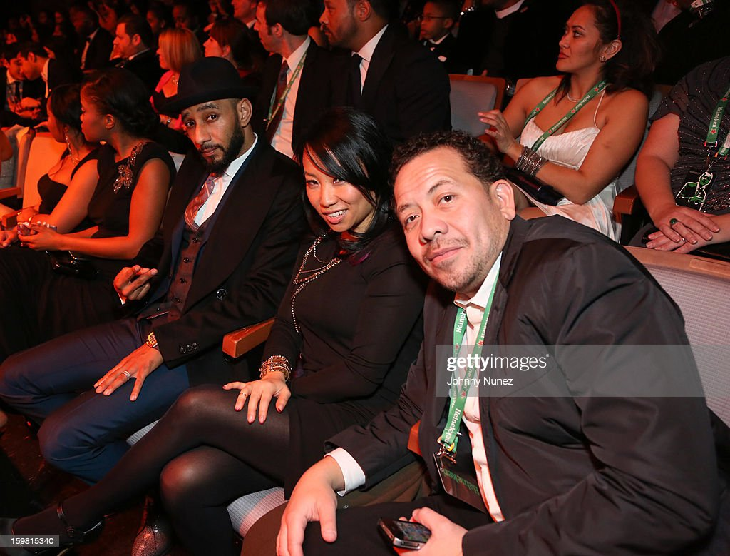 <a gi-track='captionPersonalityLinkClicked' href=/galleries/search?phrase=Swizz+Beatz&family=editorial&specificpeople=567154 ng-click='$event.stopPropagation()'>Swizz Beatz</a>, Miss Info and Elliott Wilson attend The Hip-Hop Inaugural Ball II at Harman Center for the Arts on January 20, 2013 in Washington, DC.