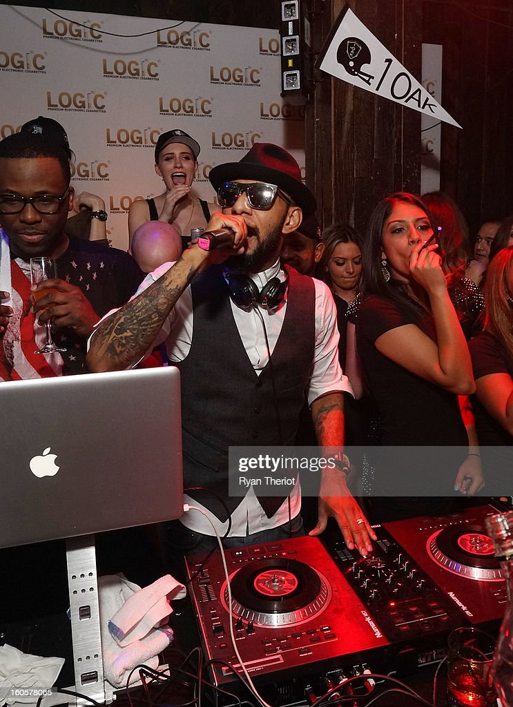 DJ <a gi-track='captionPersonalityLinkClicked' href=/galleries/search?phrase=Swizz+Beatz&family=editorial&specificpeople=567154 ng-click='$event.stopPropagation()'>Swizz Beatz</a> performs at 1 OAK New Orleans Presented By LOGIC Electronic Cigarettes at Jax Brewery on February 2, 2013 in New Orleans, Louisiana.