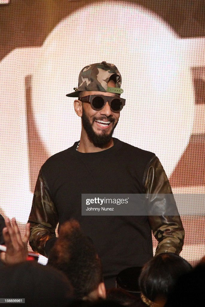 <a gi-track='captionPersonalityLinkClicked' href=/galleries/search?phrase=Swizz+Beatz&family=editorial&specificpeople=567154 ng-click='$event.stopPropagation()'>Swizz Beatz</a> performs at the BET '106 & Party' New Years Eve celebration on December 31, 2012, in New York City.