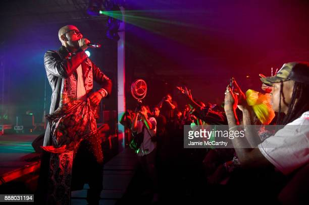 Swizz Beatz performs on stage at BACARDI Swizz Beatz and The Dean Collection bring NO COMMISSION back to Miami to celebrate 'Island Might' at Soho...