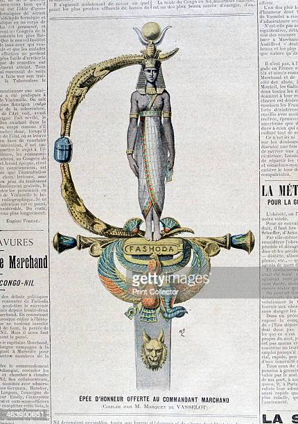 Sword of honor offered to the commercial commander 1899 An illustration from Le Petit Journal 28th May 1899