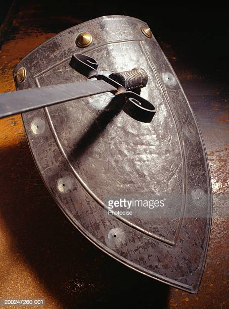 Sword on top of shield