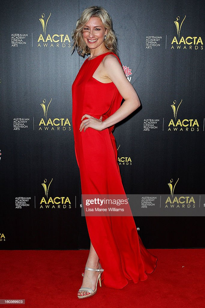 Sybilla Budd arrives at the 2nd Annual AACTA Awards at The Star on January 30, 2013 in Sydney, Australia.