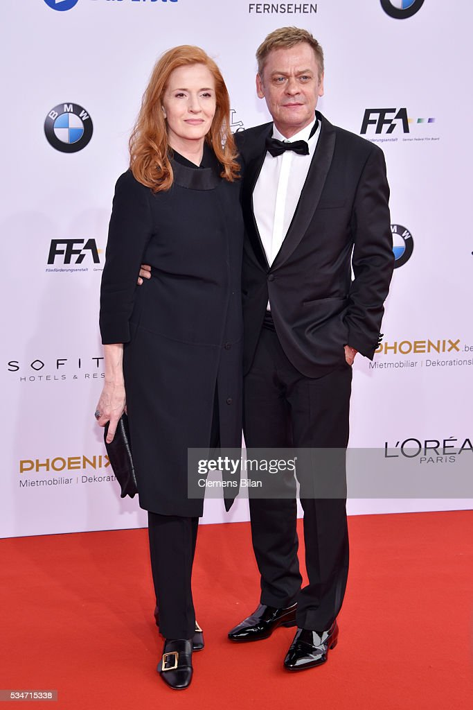 Sybille Canonica and German actor <a gi-track='captionPersonalityLinkClicked' href=/galleries/search?phrase=Sylvester+Groth&family=editorial&specificpeople=4102156 ng-click='$event.stopPropagation()'>Sylvester Groth</a> attend the Lola - German Film Award (Deutscher Filmpreis) on May 27, 2016 in Berlin, Germany.