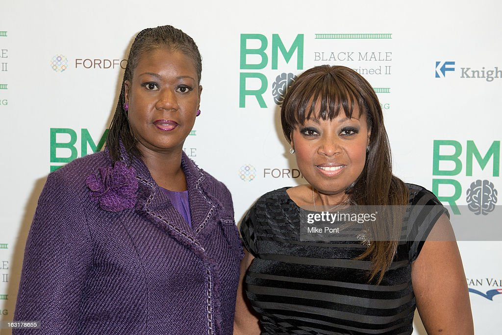 <a gi-track='captionPersonalityLinkClicked' href=/galleries/search?phrase=Sybrina+Fulton&family=editorial&specificpeople=9024062 ng-click='$event.stopPropagation()'>Sybrina Fulton</a>, mother of Trayvon Martin and <a gi-track='captionPersonalityLinkClicked' href=/galleries/search?phrase=Star+Jones&family=editorial&specificpeople=202645 ng-click='$event.stopPropagation()'>Star Jones</a> attend Black Male: Re-Imagined II at Ford Foundation on March 5, 2013 in New York City.