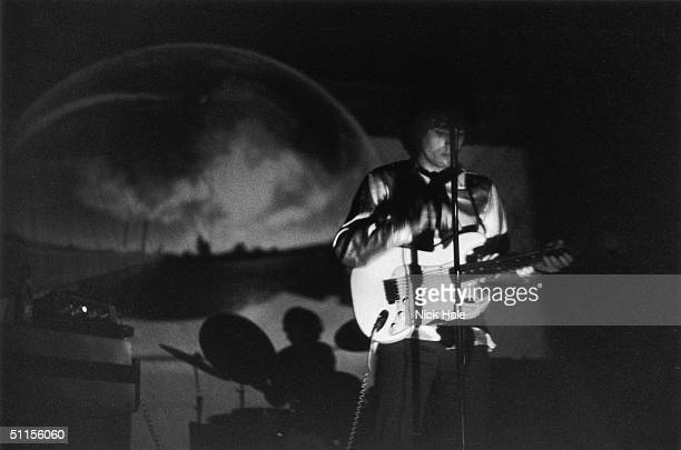 Syd Barrett leader of British psychedelic rock group Pink Floyd during rehearsals for their first concept performance at the Queen Elizabeth Hall in...