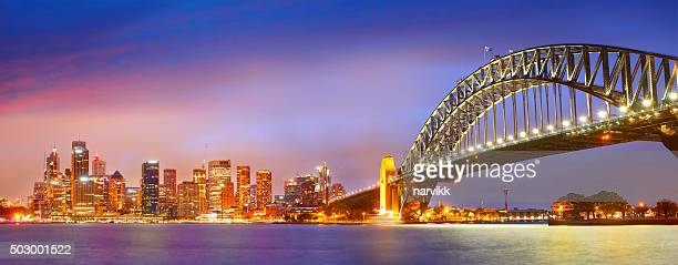 Sydney and the Harbour Bridge by night