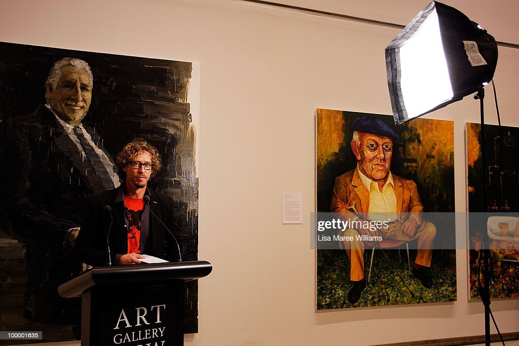 Sydney artist Craig Ruddy's painting of Warwick Thornton is announced as the winner of the Archibald People's Choice Prize at the Art Gallery Of NSW on May 20, 2010 in Sydney, Australia. The award, an additional category of the Archibald Prize, was voted by the viewing public and comes with a monetary prize of AUD