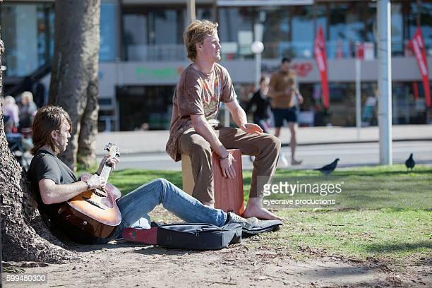 Sydney Australia Manly Beach Public Area Street Musician
