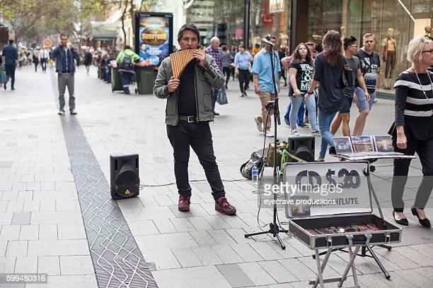 Sydney Australia Shopping District Street Views Street Musician