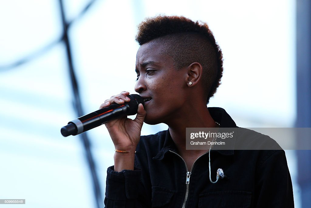 Sydney Bennett aka Syd tha Kyd of The Internet performs at St Jerome's Laneway Festival on February 13, 2016 in Melbourne, Australia.