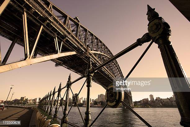 sydney bridge in the morning