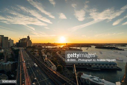 Sydney - Cahill Expressway : Foto de stock