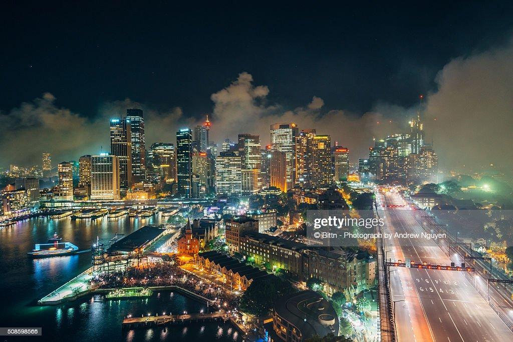 Sydney - CBD after NYE : Foto de stock