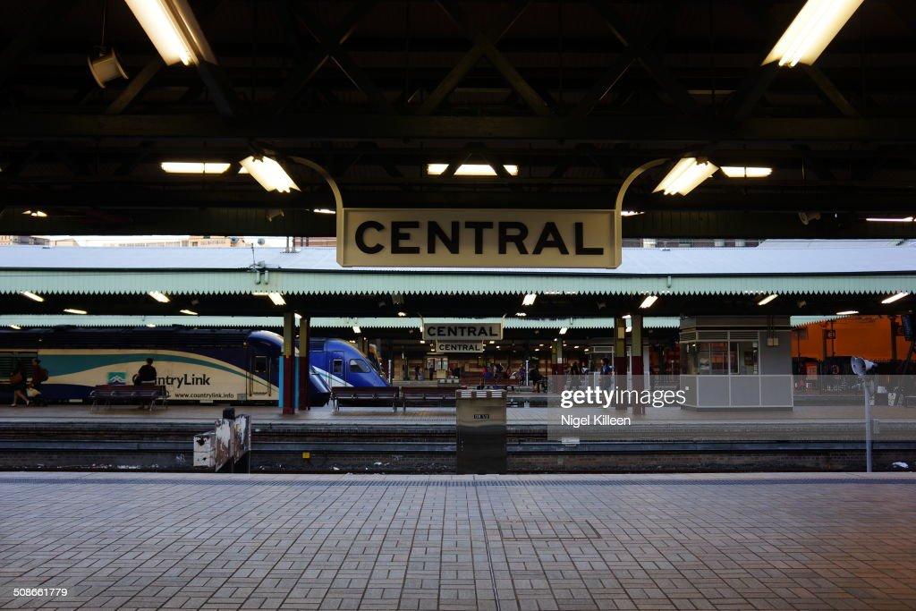 Sydney Central Train Station With Countrylink interstate train at platform Sydney Australia