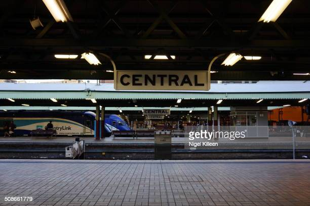 Sydney Central Train Station With Countrylink interstate train at platform Sydney Australia