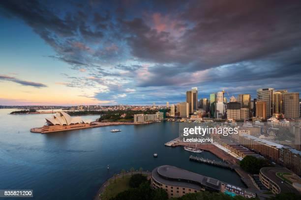 Sydney city during sunset