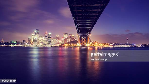 Sydney city skyline in the evening