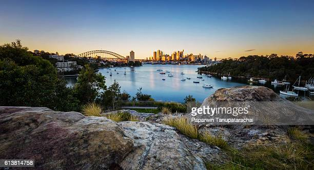 Sydney City Sunrise at Waverton, Australia