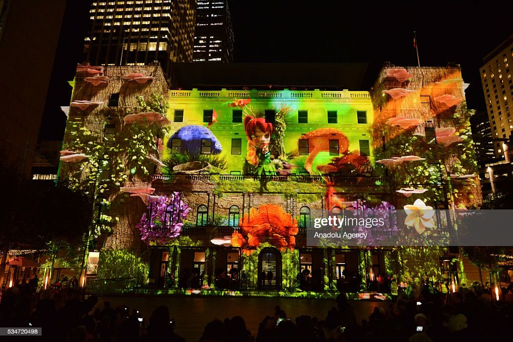Sydney Customs House is being illuminated with lights, displaying different colors and shape within the activities of 'Vivid Sydney' on May 27, 2016 in Sydney, Australia. Vivid Sydney, now in its eighth year, is Australia's major event in winter and is recognised as the largest event of its kind in the world combining light, music and ideas. Vivid Sydney is owned, managed and produced by Destination NSW, the NSW Governments tourism and major events agency.