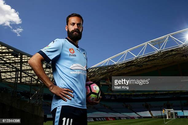 Sydney FC captain Alex Brosque poses during the 2016/17 ALeague Season Launch at ANZ Stadium on October 4 2016 in Sydney Australia