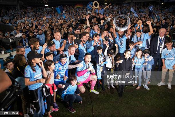 Sydney FC celebrate winning the 2017 ALeague Grand Final match between Sydney FC and the Melbourne Victory at Allianz Stadium on May 7 2017 in Sydney...