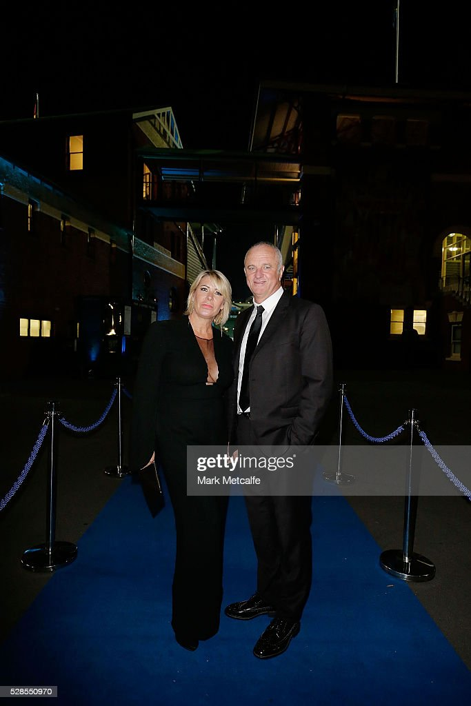 Sydney FC coach <a gi-track='captionPersonalityLinkClicked' href=/galleries/search?phrase=Graham+Arnold&family=editorial&specificpeople=545662 ng-click='$event.stopPropagation()'>Graham Arnold</a> and wife Sarah arrive ahead of the Sydney FC Sky Blue Ball at the Sydney Cricket Ground on May 6, 2016 in Sydney, Australia.