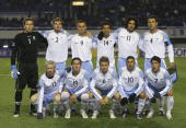 Sydney FC line up prior to their AFC Champions League 2007 match between the Sydney FC of Australia and Shanghai Shenhua of China on March 7 2007 in...