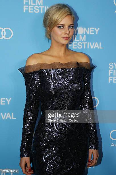 Sydney Film Festival opening at the State Theatre Actress Samara Weaving poses for photos on the red carpet for the World Premier of Mystery Road...