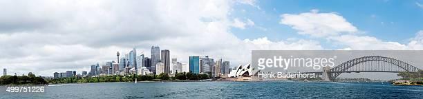 Sydney Financial District skyline with bridge
