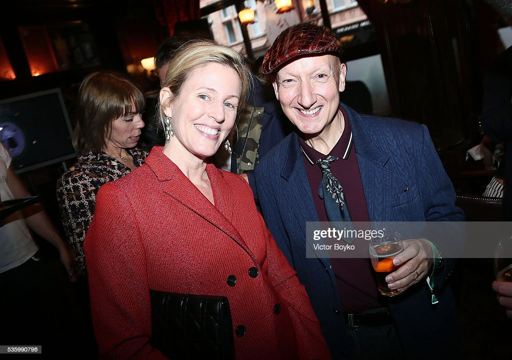 Sydney Finch and Stephen Jones attend the Dior Welcome Dinner at the Lady Dior Pub to celebrate the Cruise Collection 2017 on May 30, 2016 in London, England.
